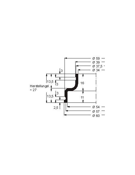 Faltenbalg V6-00001 42 CR 764