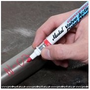 Markal Valve Action Paint Marker Display