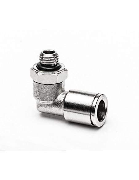 Schlauchanschluss M8x1a für Schlauch aØ 8 mm, 90° - drehbar