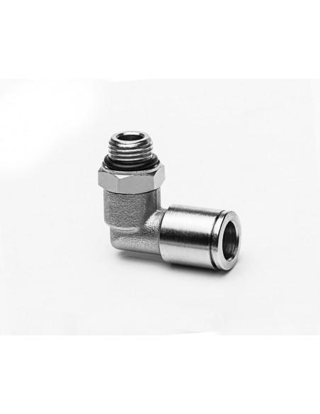 Schlauchanschluss M10x1a für Schlauch aØ 8 mm, 90° - drehbar