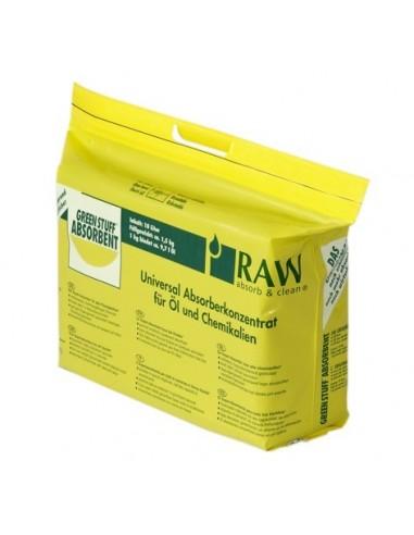 Green Stuff Absorberkonzentrat 10 x 10 Liter  Öl- und Chemikalien-Bindevliese