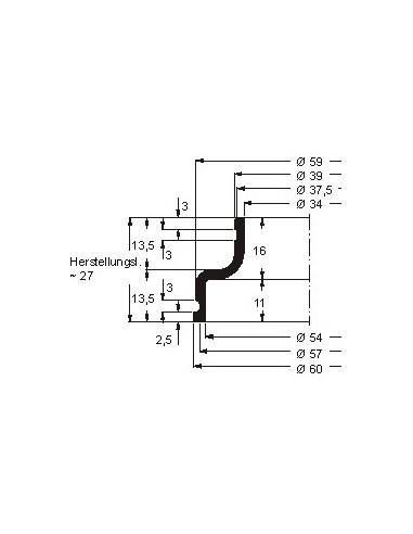 Soufflet V6-001 CFW Simrit Simrit V6-standaard programma