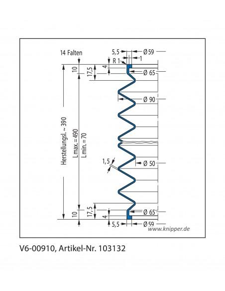 Soffietto V6-00910 CFW Simrit Simrit V6-programma standard v
