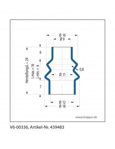 Soffietto V6-00336 CFW Simrit Simrit V6-programma standard v