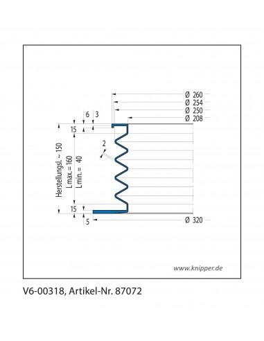 Soffietto V6-00318 CFW Simrit Simrit V6-programma standard v