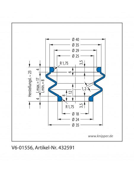 Soffietto V6-01556 CFW Simrit Simrit V6-programma standard v