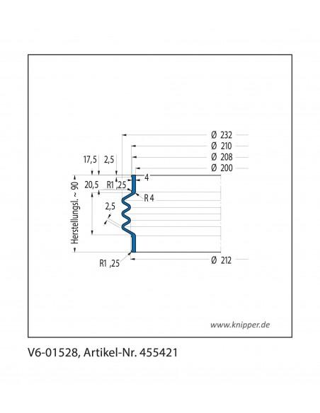 Soffietto V6-01528 CFW Simrit Simrit V6-programma standard v