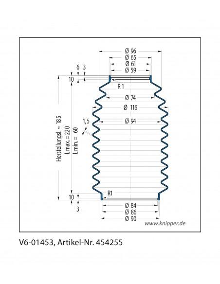 Soffietto V6-01453 CFW Simrit Simrit V6-programma standard v