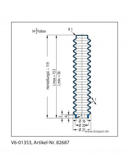 Protection Bellow V6-01353 CFW Simrit Simrit V6-standard range