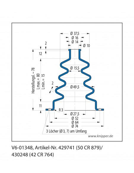 Soffietto V6-01348 CFW Simrit Simrit V6-programma standard v