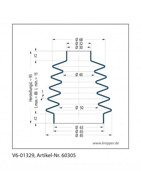 Soffietto V6-01329 CFW Simrit Simrit V6-programma standard v