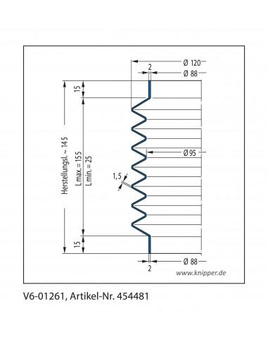 Soffietto V6-01261 CFW Simrit Simrit V6-programma standard v