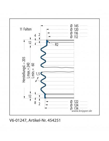 Soffietto V6-01247 CFW Simrit Simrit V6-programma standard v