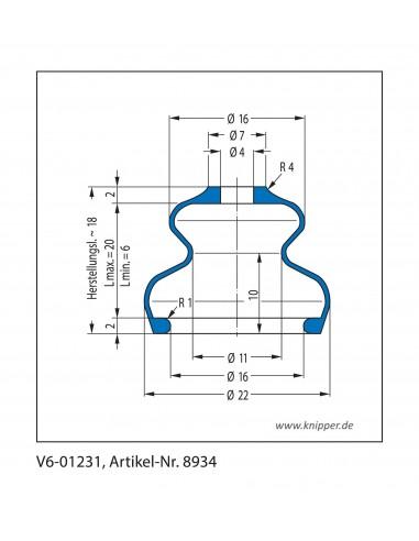 Soffietto V6-01231 CFW Simrit Simrit V6-programma standard v