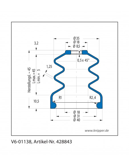 Protection Bellow V6-01138