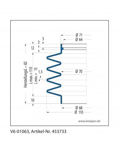 Soffietto V6-01063 CFW Simrit Simrit V6-programma standard v