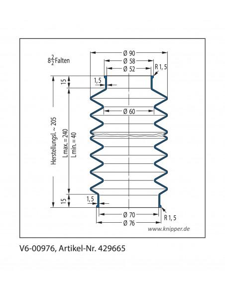 Soffietto V6-00976 CFW Simrit Simrit V6-programma standard v