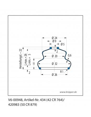 Soffietto V6-00948 CFW Simrit Simrit V6-programma standard v