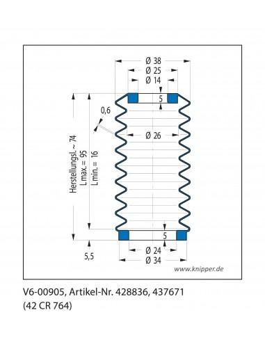 Soffietto V6-00905 CFW Simrit Simrit V6-programma standard v