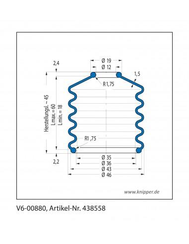 Soffietto V6-00880 CFW Simrit Simrit V6-programma standard v