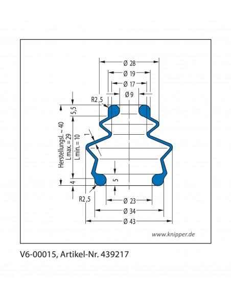 Vouwbalg V6-00015 CFW Simrit Simrit V6-standaard programma