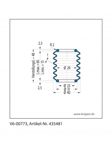 Soffietto V6-00773 CFW Simrit Simrit V6-programma standard v