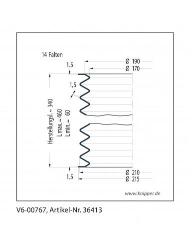 Soffietto V6-00767 CFW Simrit Simrit V6-programma standard v