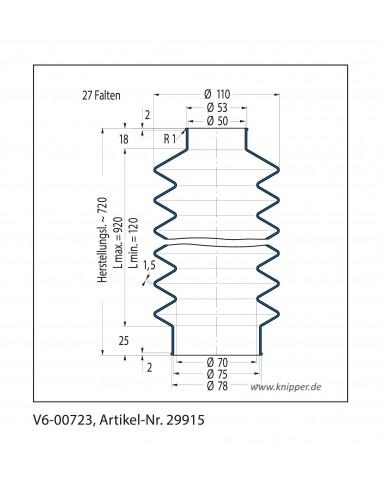 Fuelle de proteccion V6-00723