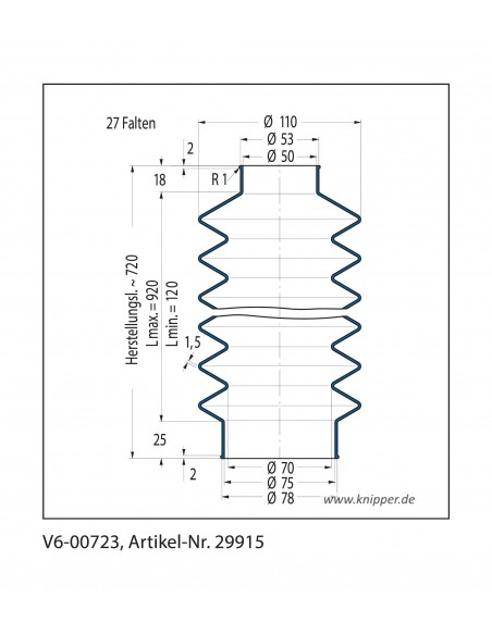 Faltenbalg V6-00723