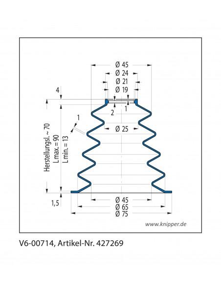 Soffietto V6-00714 CFW Simrit Simrit V6-programma standard v