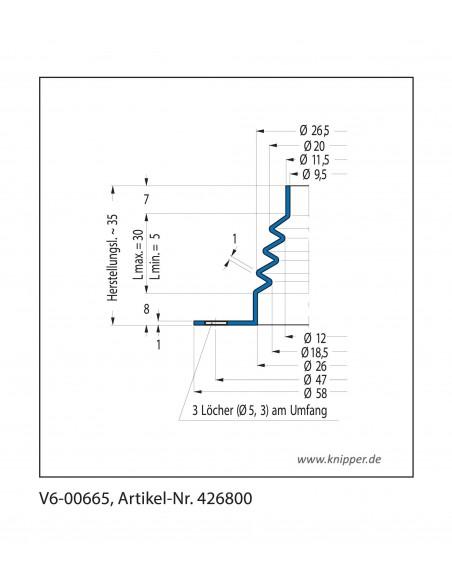 Soffietto V6-00665 CFW Simrit Simrit V6-programma standard v