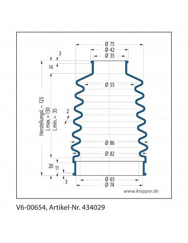 Soffietto V6-00654 CFW Simrit Simrit V6-programma standard v