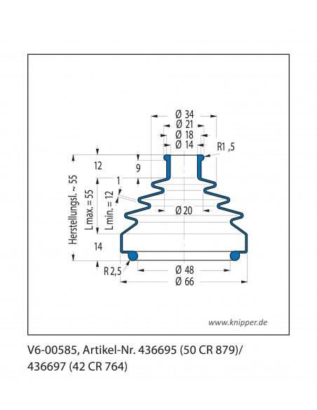 Soffietto V6-00585 CFW Simrit Simrit V6-programma standard v