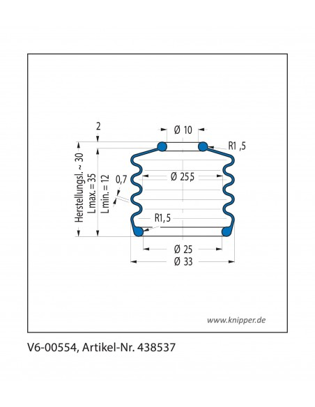 Soffietto V6-00554 CFW Simrit Simrit V6-programma standard v