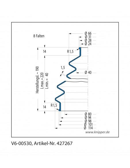 Soffietto V6-00530 CFW Simrit Simrit V6-programma standard v