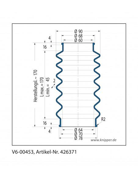 Soffietto V6-00453 CFW Simrit Simrit V6-programma standard v