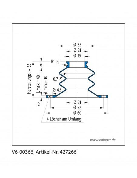 Soffietto V6-00366 CFW Simrit Simrit V6-programma standard v