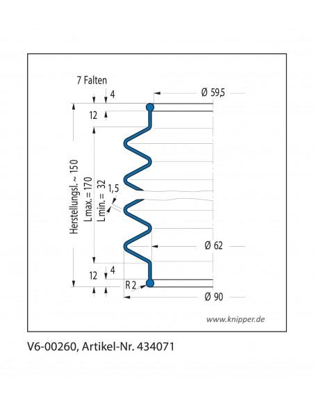 Soffietto V6-00260 CFW Simrit Simrit V6-programma standard v