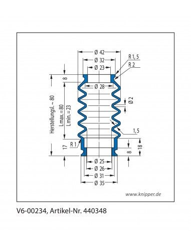 Soffietto V6-00234 CFW Simrit Simrit V6-programma standard v