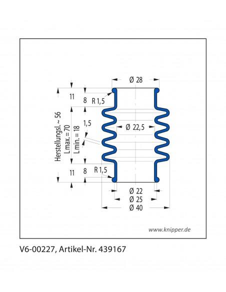 Soffietto V6-00227 CFW Simrit Simrit V6-programma standard v