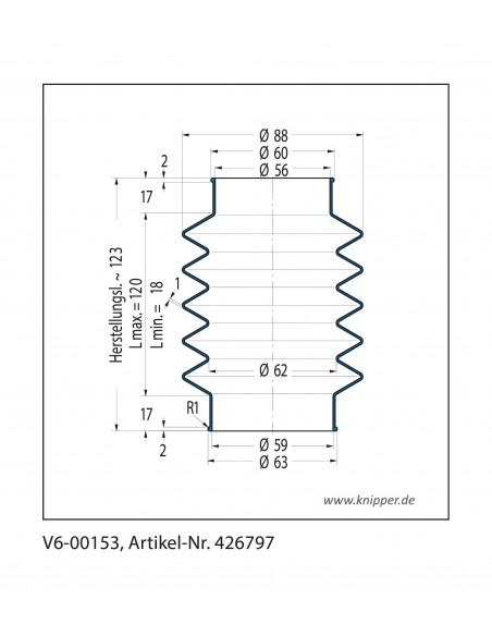 Soffietto V6-00153 CFW Simrit Simrit V6-programma standard v