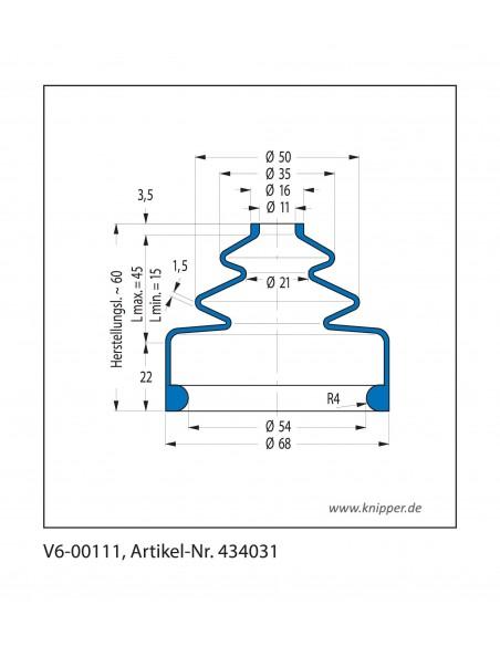 Soffietto V6-00111 CFW Simrit Simrit V6-programma standard v