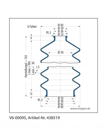 Soffietto V6-00095 CFW Simrit Simrit V6-programma standard v