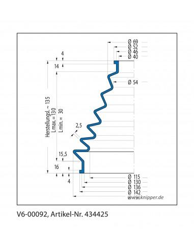Soffietto V6-00092 CFW Simrit Simrit V6-programma standard v