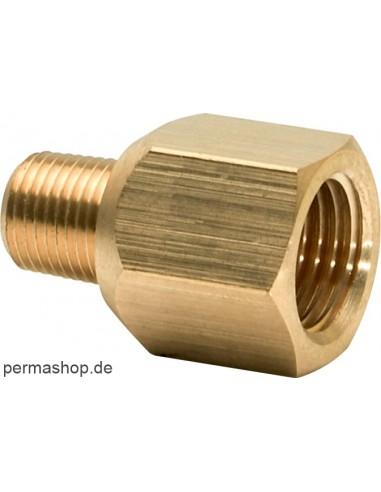 Verloopstuk R1/8a x G1/4i (Messing) perma-tec perma Reduzierungen