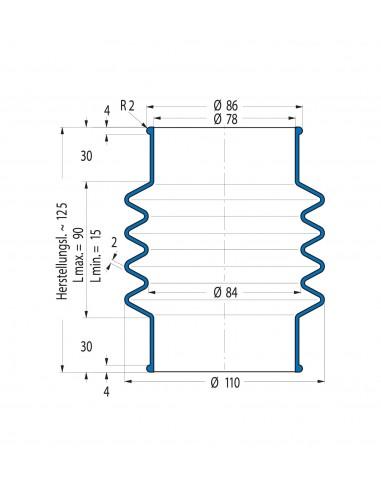 Soffietto V6-00501 CFW Simrit Simrit V6-programma standard v