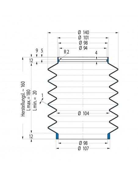 Soffietto V6-01140 CFW Simrit Simrit V6-programma standard v