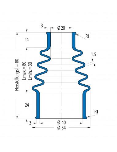 Protection Bellow V6-01544 CFW Simrit Simrit V6-standard range