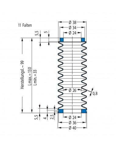 Soffietto V6-20044 CFW Simrit Simrit V6-programma standard v