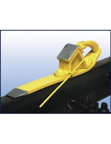 Brake Shoe Libo1 con spring jig left handed version LIBO Cunei e costruzione ferroviaria v